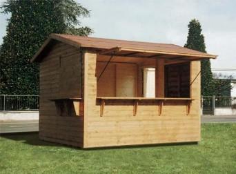 Casette in legno per mercatini noleggio